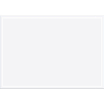 "W.B. Mason Co. Clear Face Document Envelopes, 7"" x 10"", Clear, 1000/CS"