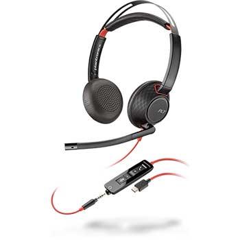 Blackwire 5200 Series USB Headset - Stereo - USB Type A, Mini-phone - Wired - Over-the-ear - Binaural - Supra-aural