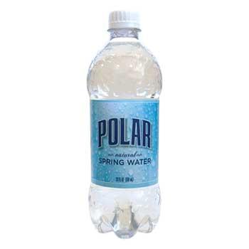 Polar® Natural Spring Water, 20 oz. Bottle, 24/CS