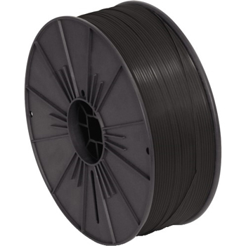 "W.B. Mason Co. Plastic Twist Tie Spool, 5/32"" x 7000', Black"