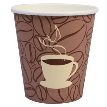 Paper Hot Cups, Coffee Bean, 12 oz., 1000/CT