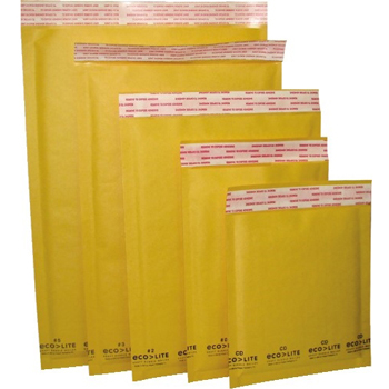 "Polyair Ecolite Bubble Mailer, Kraft, #00, 5"" x 10"", 250/CT"