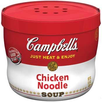 Microwavable Soup Bowls, Classic Chicken Noodle, 15.4 oz., 8/CS
