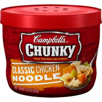 Campbell's® Microwavable Soup Bowls, Chunky™ Chicken Noodle, 15.25 oz., 8/CS