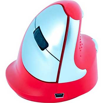 R-Go Tools HE Sport Bluetooth Vertical Ergonomic Mouse, Medium, Right Hand Use, Red