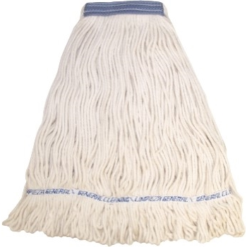 """ABCO Cotton Looped End Wet Mops, #16, White, 5"""" Headband"""