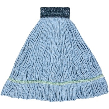 """Blended Looped End Wet Mops, #20, Blue, 5"""" Headband, 6/CT"""