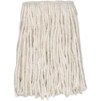 "ABCO Cotton Cut End Wet Mops, #24, White, 5"" Headband"