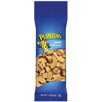 Planters® Salted Cashews, 1.5 oz. Bags, 18/BX