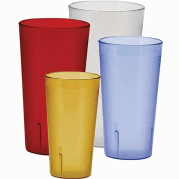 Winco® 20oz Pebbled Tumblers, Red