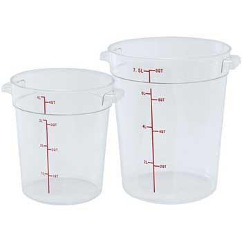 Winco® 8 Quart Round Storage Container, Translucent