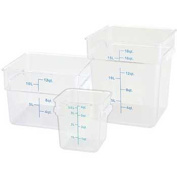 Winco® 12 Quart Square Storage Container, Translucent