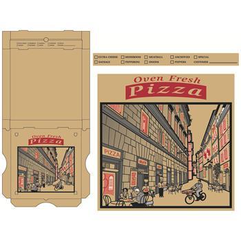 "Chef's Supply Pizza Box, Corrugated, 16"", Kraft, 50/CT"