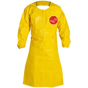 Apron, Polyethylene/Fabric, Yellow, 25/CS