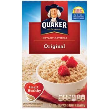 Quaker® Instant Oatmeal, Original, 12/BX