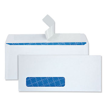 Quality Park™ Tinted Window Envelope, Contemporary, #10, White, 500/Box