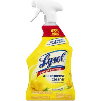LYSOL® Brand Ready-to-Use All-Purpose Cleaner, 32 oz. Spray Bottle, Lemon Breeze Scent