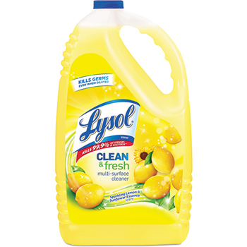 LYSOL® Brand Clean & Fresh MultiSurface Cleaner, Sparkling Lemon/Sunflower,144oz Bottle,4/CT