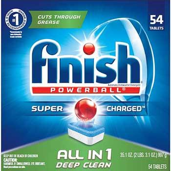 Powerball Dishwasher Tabs, Fresh Scent, 54/BX