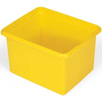 Rubbermaid® Commercial Organizing Bin, 30qt, 17 1/2w x 11d x 14h, Yellow