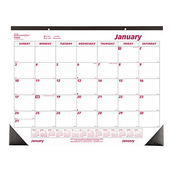 "Monthly Desk Pad Calendar, 22"" x 17"", 2021"