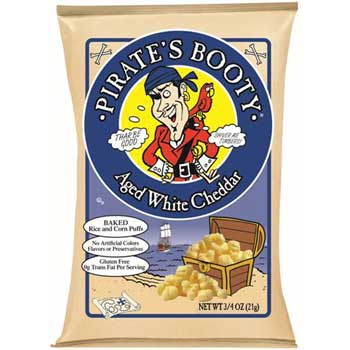 Pirate's Booty® Baked Puffs, Aged White Cheddar, 0.75 oz., 24/CS