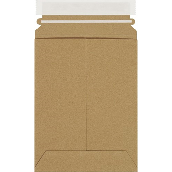 "W.B. Mason Co. Self-Seal Flat Mailers, 6"" x 8"", Kraft, 100/CS"