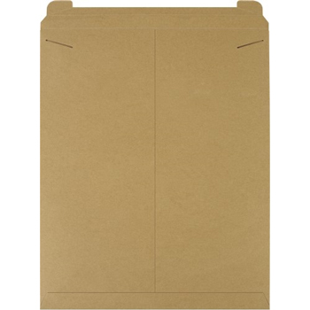 "W.B. Mason Co. Flat Mailers, 22"" x 27"", Kraft, 50/CS"