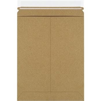 "W.B. Mason Co. Self-Seal Flat Mailers, 9"" x 11 1/2"", Kraft, 100/CS"