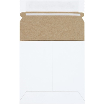 "W.B. Mason Co. Self-Seal Flat Mailers, 5 1/8"" x 5 1/8"", White, 200/CS"