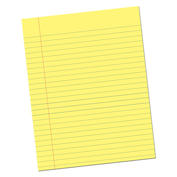 """Pacon® Essay Composition Paper with Red Margin,  10.5"""" x 8"""", 500/RM"""