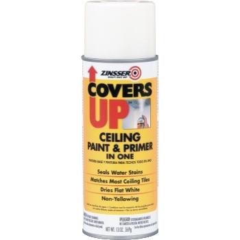 Rust-Oleum® Covers Up Ceiling Paint & Primer, White, 13 oz Aerosol