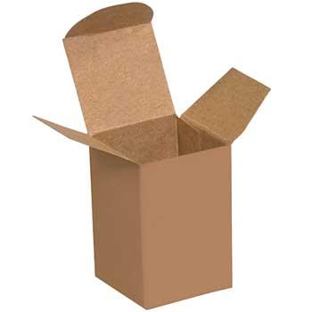 "Reverse Tuck Folding Cartons, 1 1/2"" x 1 1/4"" x 2"", Kraft, 1000/CS"