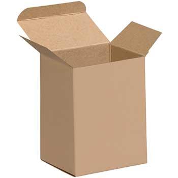 "W.B. Mason Co. Reverse Tuck Folding Cartons, 4"" x 3"" x 5"", Kraft, 250/CS"