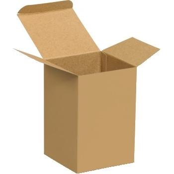 "Reverse Tuck Folding Cartons, 4"" x 4"" x 6"", Kraft, 250/CS"