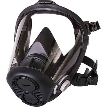 Honeywell RU6500 Full Face Mask, 5 PT. Head Harness, Large