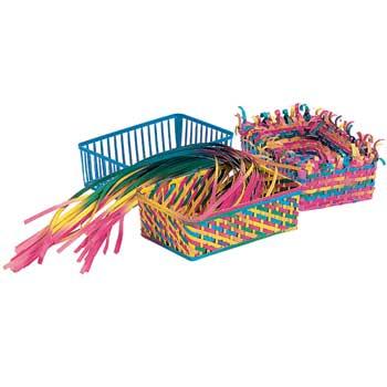 "Roylco® Weaving Baskets, 6 1/2"" x 4 1/2"" x 2 1/4"""