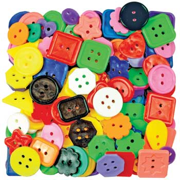 Roylco® Bright Buttons, Assorted, 2 lb.