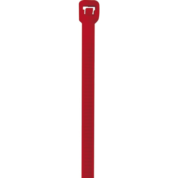 """W.B. Mason Co. Colored Cable Ties, 40#, 5 1/2"""", Red, 1000/CS"""