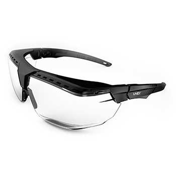 Avatar™ OTG Safety Glasses, Anti-Scratch Coating, Clear Lens, Black Frame
