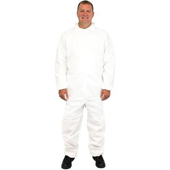 The Safety Zone Coverall, Breathable Microporous, Medium, White, 25/CS
