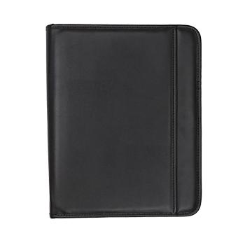 Samsill®  Professional Padfolio – Resume Portfolio / Business Portfolio with Secure Zippered Closure, 10.1 Inch Tablet Sleeve, 8.5 x11 Writing Pad, Black