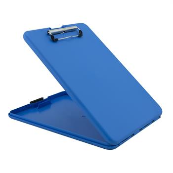 "Saunders Slimmate Storage Clipboard, 1/2"" Capacity, Holds 8-1/2""W x 12""H, Blue"