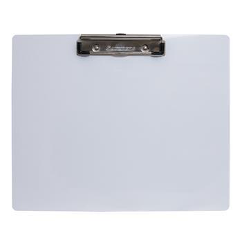 """Saunders Landscape Aluminum Low-Profile Clipboard, 8-1/2"""" x 11"""", White"""