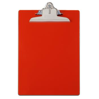 """Saunders Recycled Plastic Clipboards, 1"""" Capacity, Holds 8-1/2""""W x 12""""H, Red"""