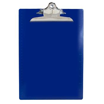 """Saunders Recycled Plastic Clipboards, 1"""" Capacity, Holds 8-1/2""""W x 12""""H, Blue"""