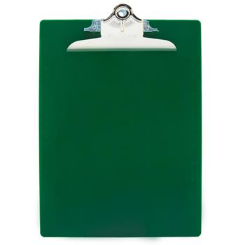 """Saunders Recycled Plastic Clipboards, 1"""" Capacity, Holds 8-1/2""""W x 12""""H, Green"""