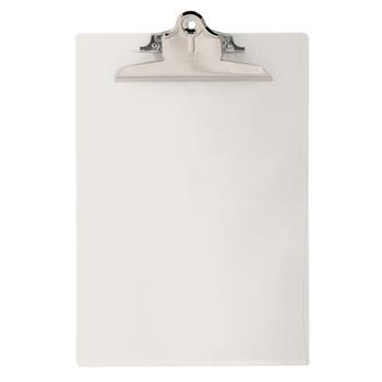 """Saunders Recycled Plastic Clipboards, 1"""" Capacity, Holds 8-1/2""""W x 12""""H, Clear"""