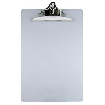 """Saunders Aluminum Clipboard With High-Capacity Clip, 1"""" Capacity, Holds 8-1/2"""" x 12"""", Silver"""