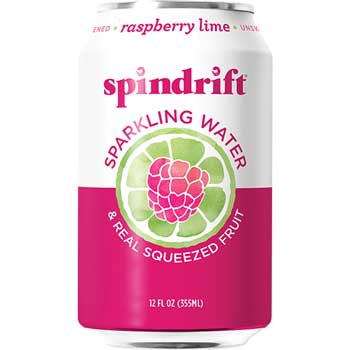 Spindrift® Sparkling Water, Raspberry Lime, 12 oz., 24/CS